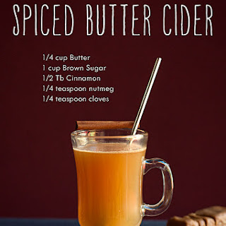 Hot Apple Cider with Spiced Butter
