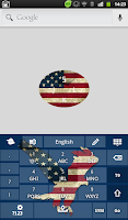 Screenshot of American Keyboard Theme