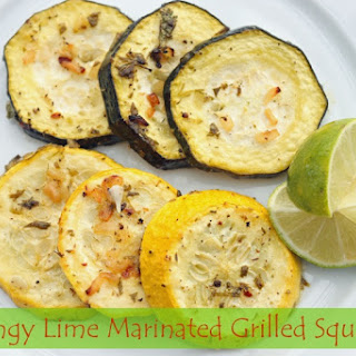 Tangy Lime Marinated Grilled Summer Squash