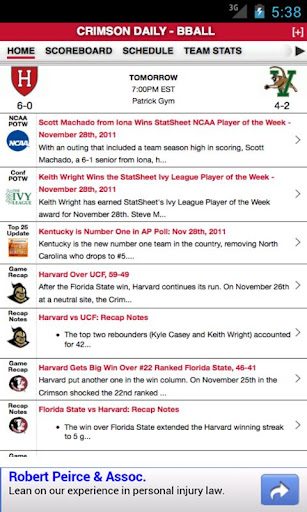 Harvard Football Basketball