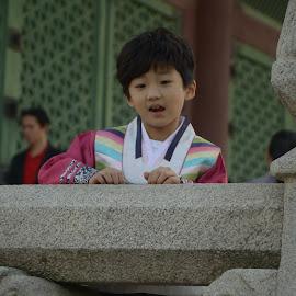Little Korean Kid in Traditional wear by Ray Ambler - Babies & Children Children Candids
