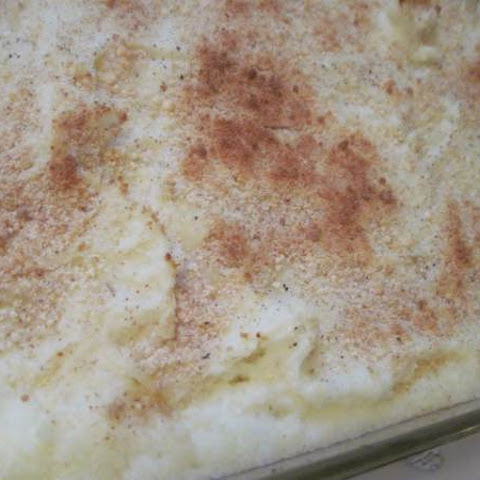 Moore or Less Cooking Baked Mashed Potatoes with Parmesan Cheese and Bread Crumbs