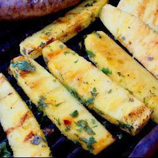 Barbecued Tequila and Coriander Pineapple