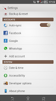 Screenshot of Xperia Theme - Coffee