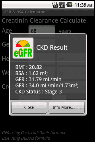 【免費醫療App】GFR & BSA Calculator-APP點子