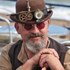 Steampunk Festival by Dean Thorpe - People Portraits of Men