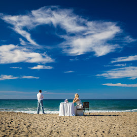 by Alexander Hadji - Wedding Other ( seashore, wedding, greece, bride )