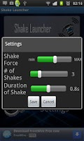 Screenshot of Shake Launcher