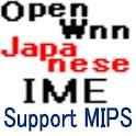 OpenWnn Japanese IME for MIPS