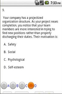 PMP Practice test - screenshot