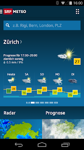 SRF Meteo - Wetter Prognose screenshot for Android
