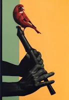 VogelundFlöte, 2014, Acrylic on canvas, 50 x 35cm