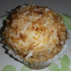 GF toasted coconut cupcake