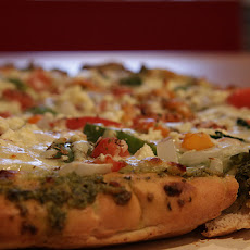 Three-Cheese Veggie Pizza