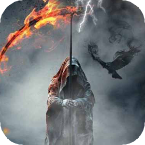 Death with fiery scythe LWP APK