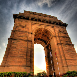 India Gate by Bhargava Chiluveru - Buildings & Architecture Public & Historical ( hdr, india, india gate, delhi, gate )