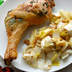 Sage-Roasted Chicken with Endive Salad