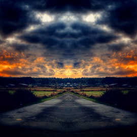 by Todd Reynolds - Instagram & Mobile Android ( dragon, clouds, mirrored, toddreynoldsphotography )