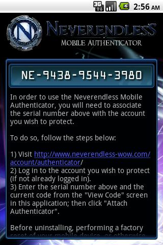 Neverendless Authenticator