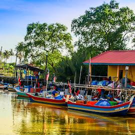 My Fisher boats by Syahrul Nizam Abdullah - Transportation Boats