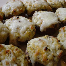 Cheese and Pesto-Stuffed Mushrooms