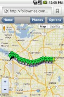 Screenshot of GPS Tracker By FollowMee Trial