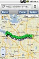 Screenshot of GPS Tracker By FollowMee