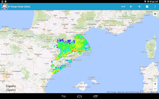 Screenshot of Radar el Temps (beta)