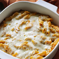Baked Penne with Pecorino Pumpkin Sauce