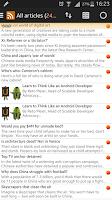 Screenshot of Smart Feed Reader
