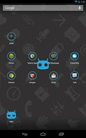 Screenshot of Icon Pack - Nexus Circle Cyano