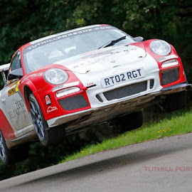 Flying Porsche by Don Rothenberg - Transportation Automobiles