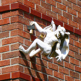 A little something hanging around on one of the buildings here in Indianapolis!! by Gaynel . - Artistic Objects Other Objects