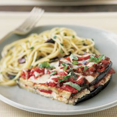 Eggplant with Tomatoes, Ricotta and Parmigiano-Reggiano