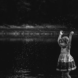 Water by Stephanie Stafford - Babies & Children Toddlers ( water, black and white, children )