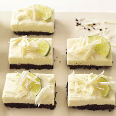 White Chocolate and Lime Cheesecake Bars