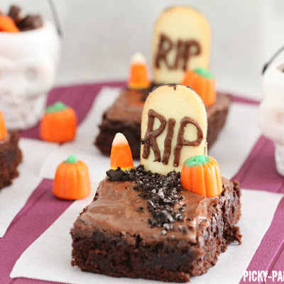 Fudgy Graveyard Brownies