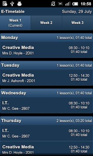 E-Timetable