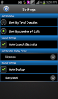 Screenshot of Manage Call Logs