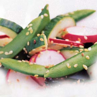 Sugar Snap Pea, Radish, and Cucumber Salad