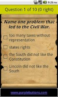 Screenshot of Free US Citizenship Test