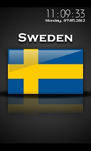 Sweden - Flag Screensaver - screenshot