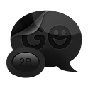 GO SMS PRO THEME Black Gloss icon