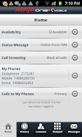 Screenshot of Avaya one-X® Mobile