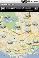 Screenshot of SG Weather Cast