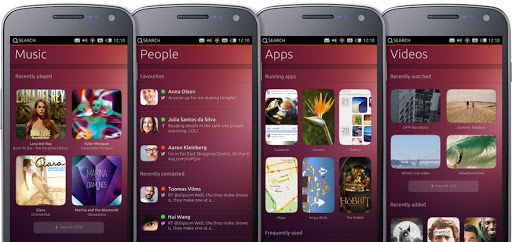 Ubuntu for phones or smartphones shall we say is that a Galaxy Nexus being shown there