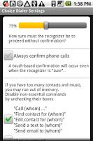 Screenshot of Choice Dialer Plus (free)