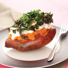 Sweet Potato with Kale and Ricotta