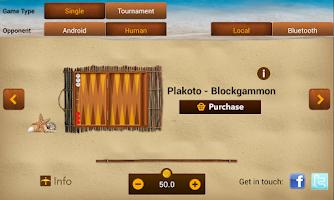 Screenshot of iTavli-Three Backgammon games