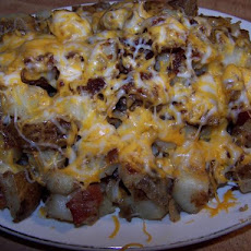 Brit's Cheesy Onion Home Fries